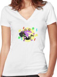 Dance Lizard Women's Fitted V-Neck T-Shirt