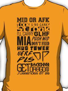 League of Legends Quotes T-Shirt