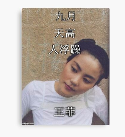 Faye Wong Wang Fei Canvas Print