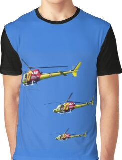 Helicopter Trio Graphic T-Shirt