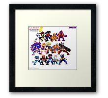 Kid Soldier PCA 6 Game Sprites Picture Framed Print