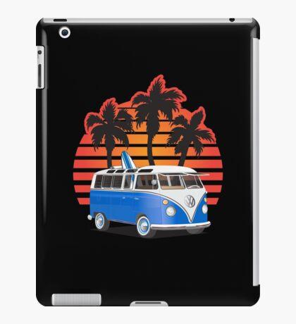 Hippie VW Split Window Bus w Surfboard & Palmes iPad Case/Skin