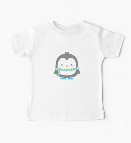 Cute Little Penguin with Scarf Baby Tee