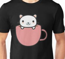 Cute and Funny Cat In Coffee Mug Unisex T-Shirt
