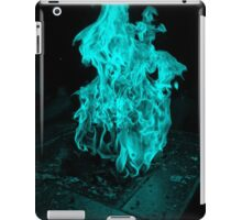 Cyan Fire Place iPad Case/Skin