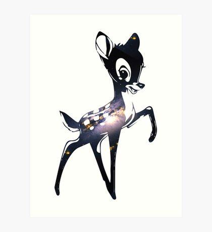 Space Bambi | Barred Spiral Galaxy Art Print