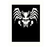 Rorschach Symbiote black Art Print