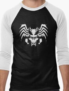 Rorschach Symbiote black Men's Baseball ¾ T-Shirt