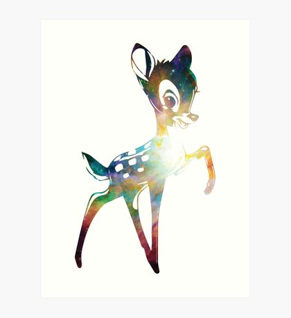 Space Bambi | Heart of Omega Nebula Art Print
