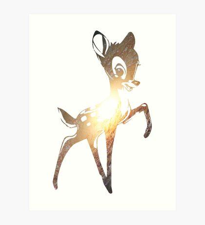 Space Bambi | Leo Art Print