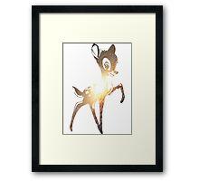 Space Bambi | Leo Framed Print