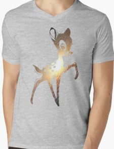 Space Bambi | Leo Mens V-Neck T-Shirt