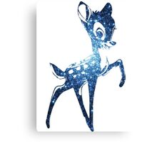 Space Bambi   Blue Cluster Galaxy Canvas Print