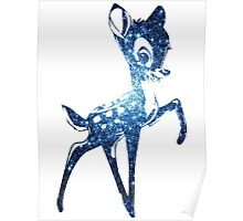 Space Bambi | Blue Cluster Galaxy Poster