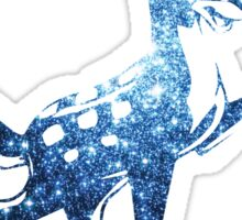 Space Bambi | Blue Cluster Galaxy Sticker