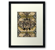 NewLengths_Cartography Design Framed Print