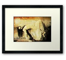 Halloween at the Graveyard Framed Print