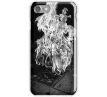 White Fire Pit iPhone Case/Skin
