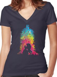 Magic Moment Women's Fitted V-Neck T-Shirt