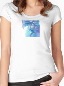Watercolour Abstract Germination Women's Fitted Scoop T-Shirt