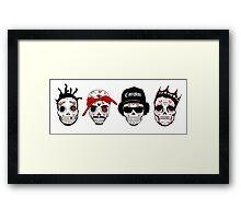 RIP MCs - Gangsta Rapper Sugar Skulls Framed Print