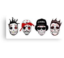RIP MC's - Gangsta Rapper Sugar Skulls Canvas Print