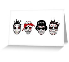 RIP MCs - Gangsta Rapper Sugar Skulls Greeting Card