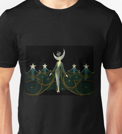 "Art Deco Design by Erte ""Queen of the Night"" Unisex T-Shirt"