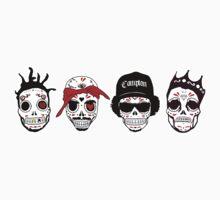 RIP MCs - Gangsta Rapper Sugar Skulls by howieloots