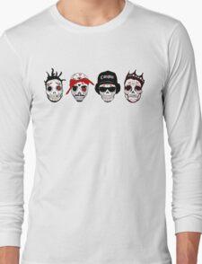 RIP MCs - Gangsta Rapper Sugar Skulls Long Sleeve T-Shirt