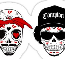 RIP MC's - Gangsta Rapper Sugar Skulls Sticker