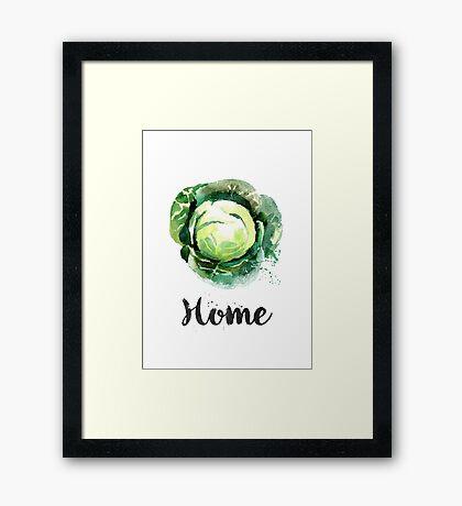 Cabbage. Home Framed Print