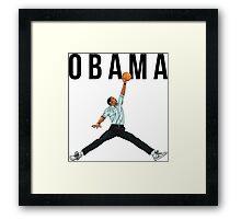 Obama Basketball Mashup Framed Print