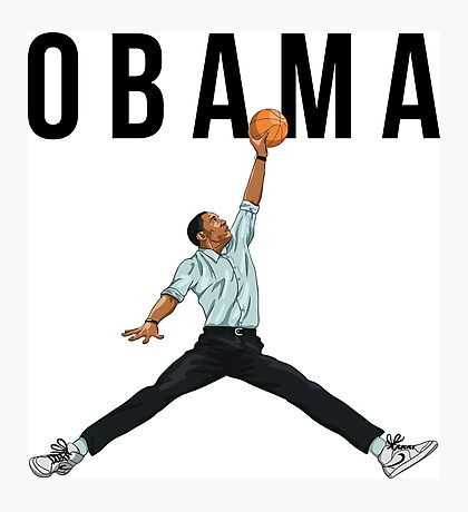 Obama Basketball Mashup Photographic Print