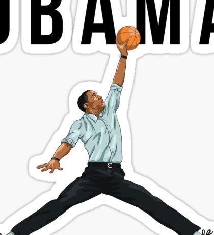 Obama Basketball Mashup Sticker