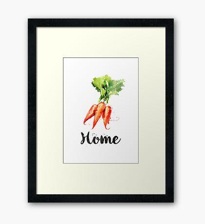 Carrots. Home  Framed Print