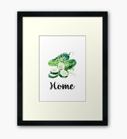 Cucumber. Home Framed Print