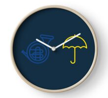Blue French Horn Vs. Yellow Umbrella Clock