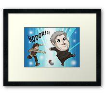 I Choose Hodor! Framed Print