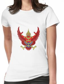 Red Garuda - Symbol of Thailand Womens Fitted T-Shirt