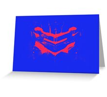 Dead Space - Isaac Clarke - Blue and Pink Greeting Card
