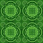 Green Mandala Pattern by buzatron