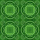 Green Mandala Pattern by buzatron