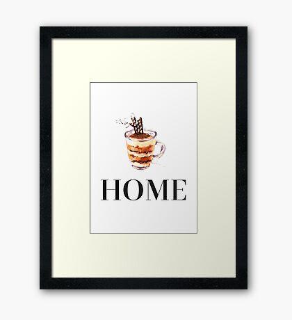 Latte. Home Framed Print