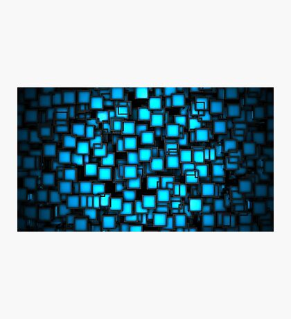 Cool 3D Blue Abstract Photographic Print