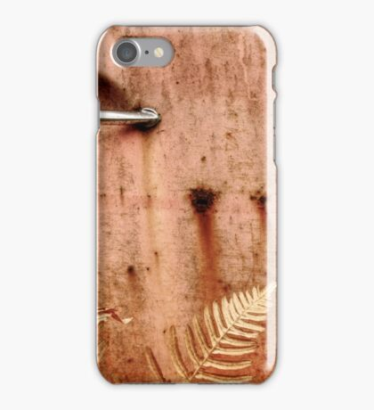 3.10.2014: Rusty Door and Plants iPhone Case/Skin