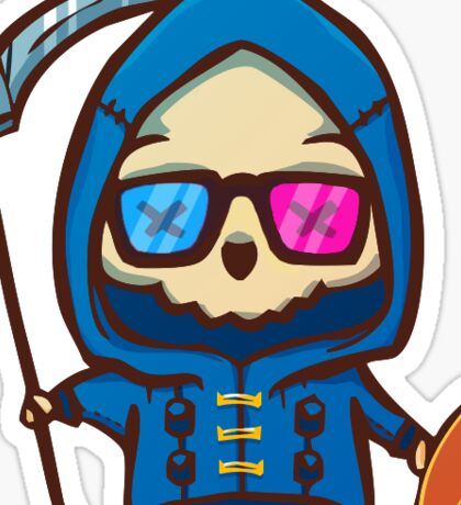 Uncle Death Let it Die cute  Sticker