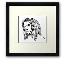 Girl With Tangled Hair Framed Print