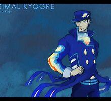 Primal Kyogre Jotaro by kynimdraws