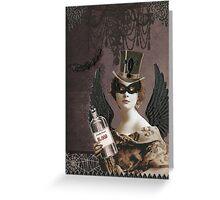 Winged Vampire Masquerade Greeting Card